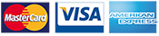 Masercard Visa and American Express accepted